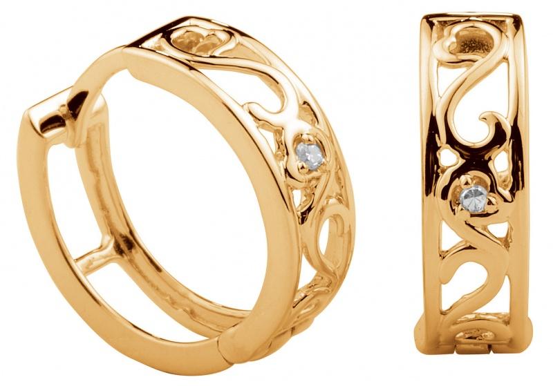 d9ef5f864d4 Kohinoor kullast kõrvarõngad teemantitega - Kuldkroon